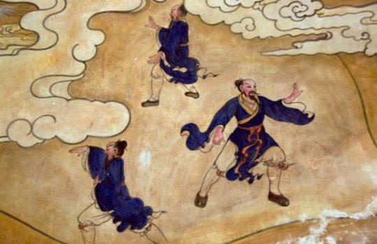 Растягивание спины и шеи в практике Сяояо.